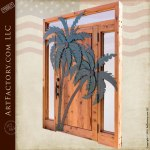 palm tree theme custom door