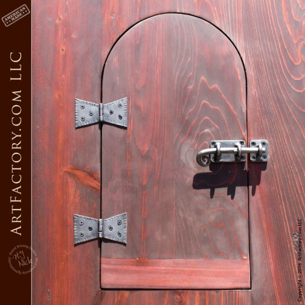 Custom Exterior Door, Arched Door With Speak Easy Window