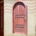 arched wooden panel door