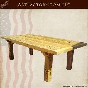 Farmhouse Solid Wood Table, Custom High End Furniture