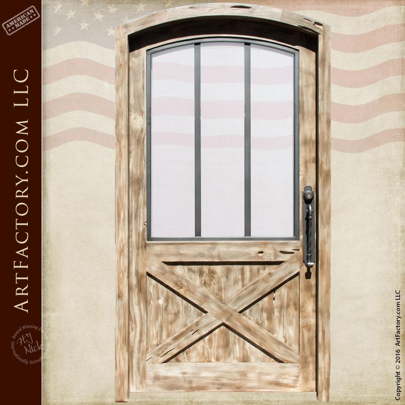 custom exterior door custom exterior door & Custom Exterior Door - Arched Door - Crossbuck Panel - Scottsdale ...