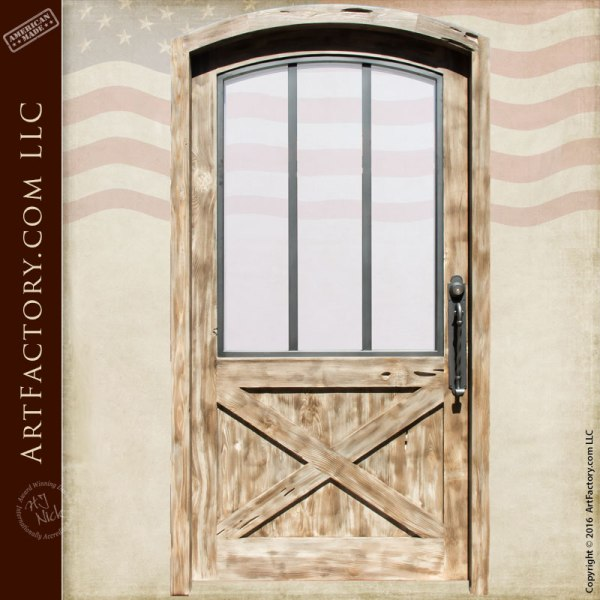 Custom Exterior Door - Arched Door - Crossbuck Panel - Scottsdale ...