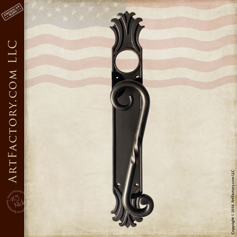 kitchen cabinet latches outdoor prefab kits elegant hand forged s curve pulls - custom solid iron hardware