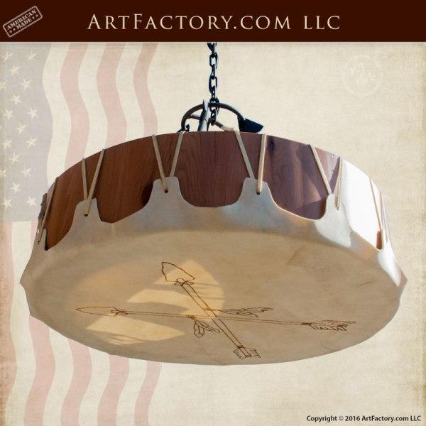 Hand Made Chandelier Native American Drum Scottsdale