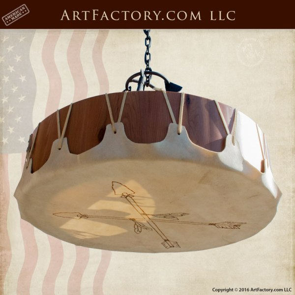 custom arrowhead drum chandelier
