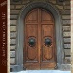 custom Roman style doors