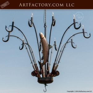 fishing theme chandelier, custom lighting, theme lighting