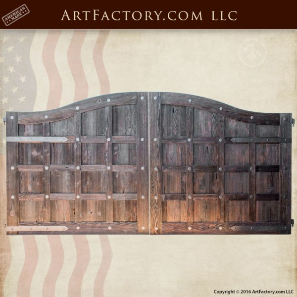 custom gates, solid wood gates, iron gate