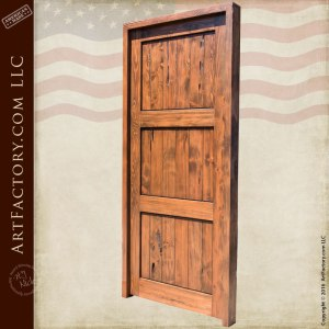 3 panel wood entry door
