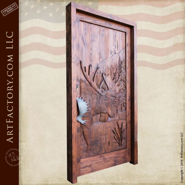 hand carved wood doors