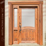 log style solid wood door