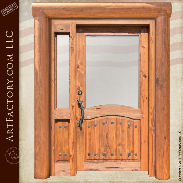 log style solid wood door