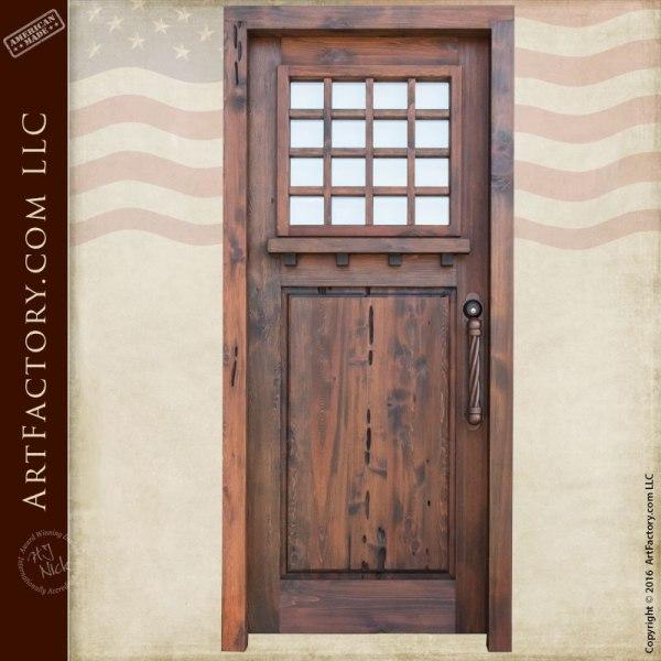 craftsman custom wooden door