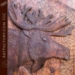 moose lodge hand carved door