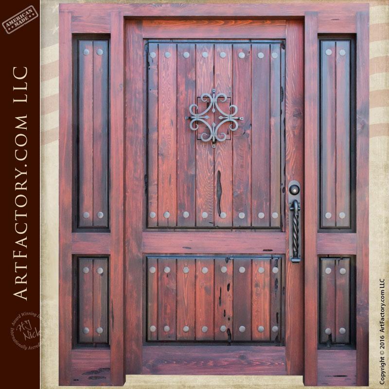 vertical groove panel front door