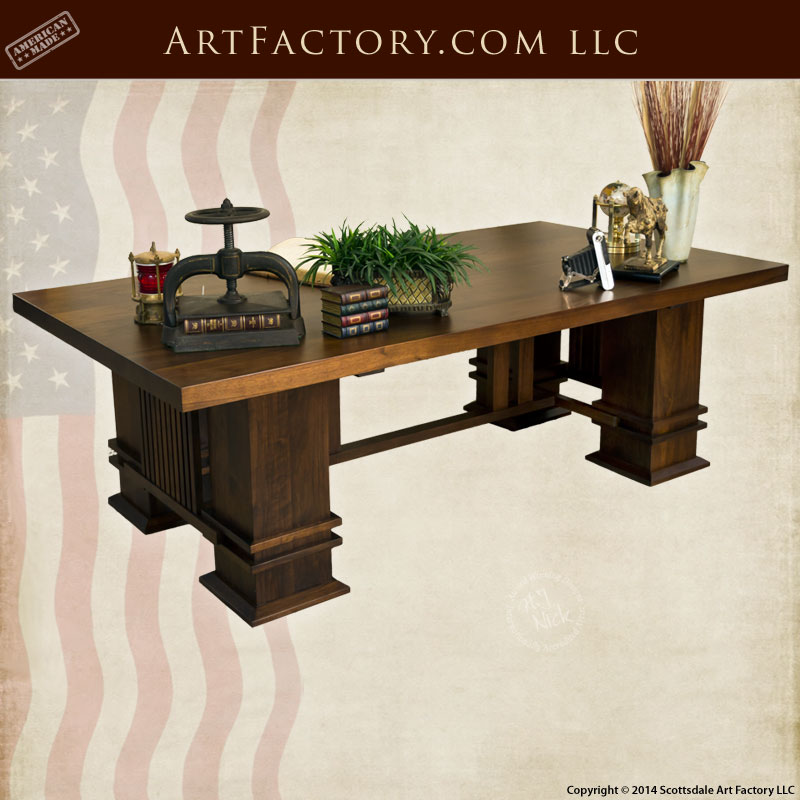 Charmant Custom Craftsman Office Desk Custom Craftsman Office Desk