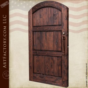 Three Panel Side Gate Custom Wood Entry Gates