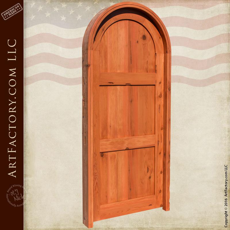 Arched Castle Doors Classic Three Panel Door Scottsdale Art Factory
