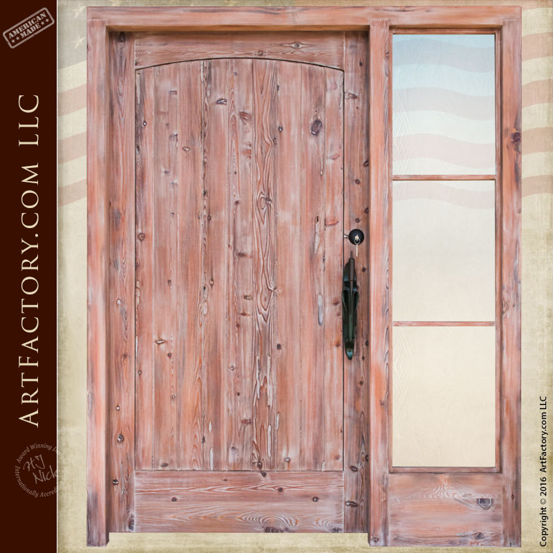 Custom Typha Solid Wood Door Custom Sidelight Iron