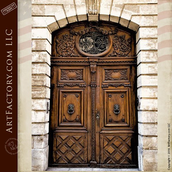 Handmade Old World Style Entrance Door