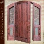 lodge theme solid wood door