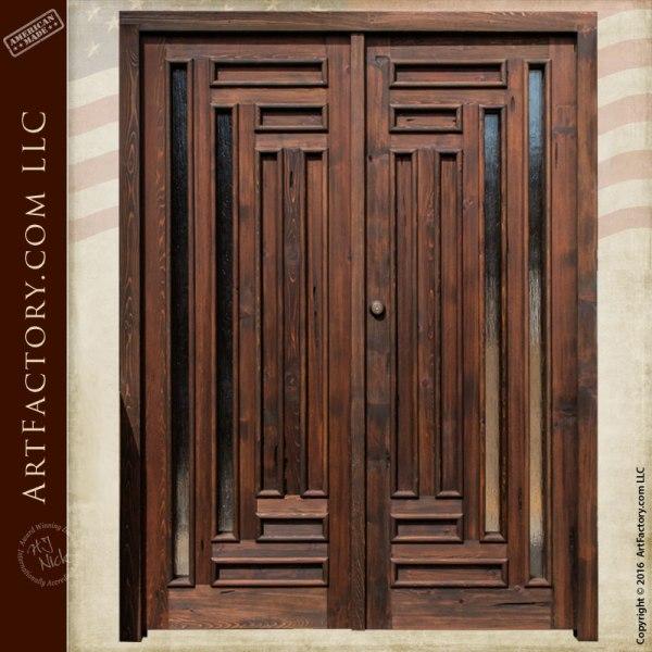 exterior double doors. Handmade Exterior Double Doors