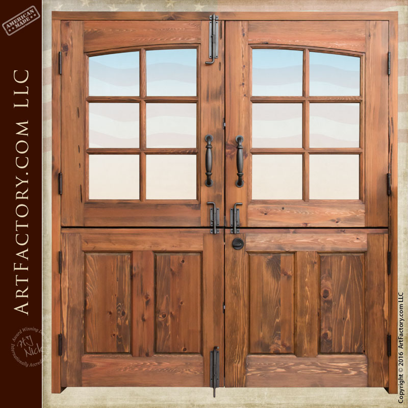Solid wood double dutch entry doors custom exterior for Wooden front doors fitted