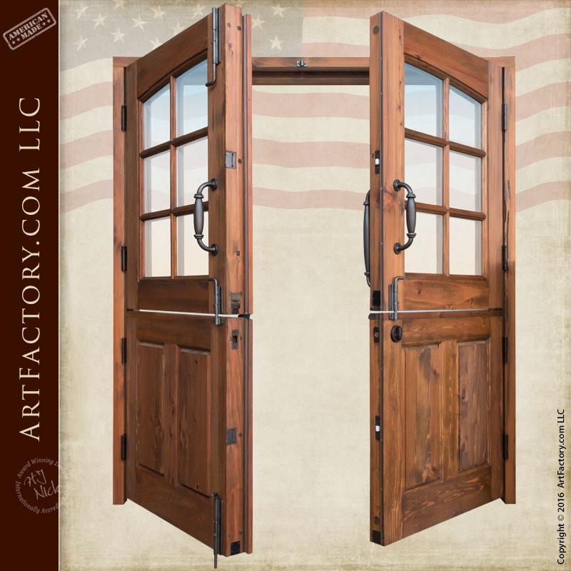 Solid Wood Double Dutch Entry Doors  Custom Exterior