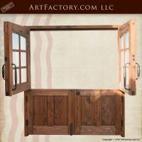 Solid Wood Double Dutch Entry Doors - Custom Exterior ...
