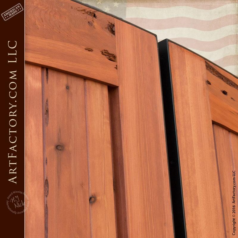 Custom Wood Gates: Bell Curve Driveway Gates