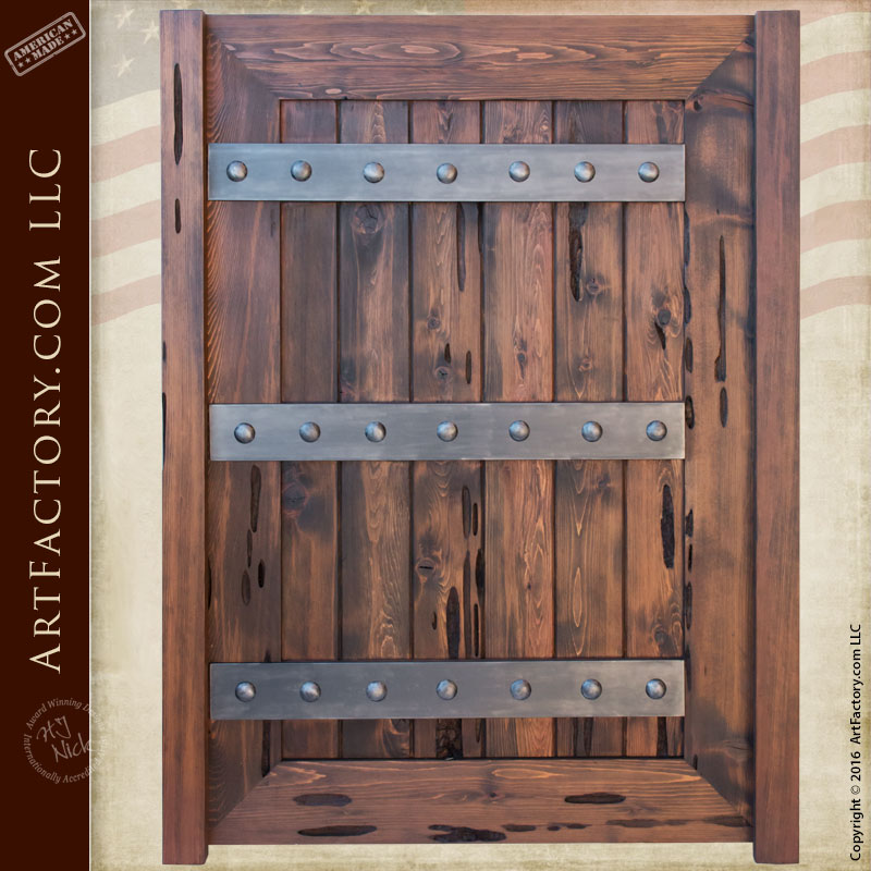 Custom Wood Gates: Fortified Wood Garden Gates