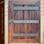 Chequers Court Fortified Custom Wood Entry Gate
