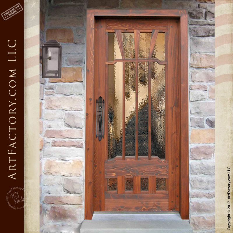 textured glass craftsman door