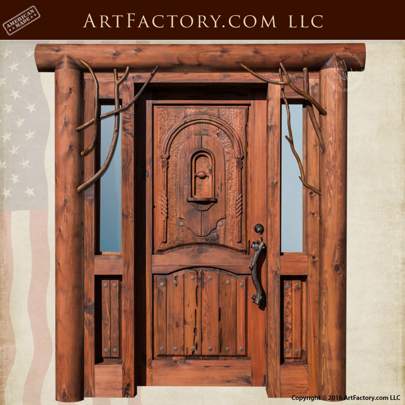 custom log cabin doors