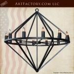 custom wrought iron chandelier