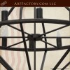 custom wrought iron chandelier
