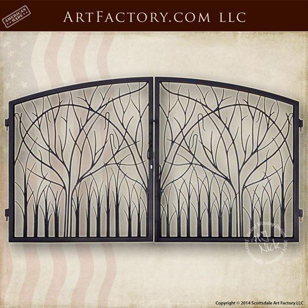 nature theme iron gate