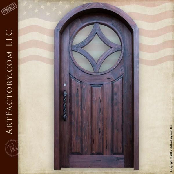 Custom Contemporary Wood Door
