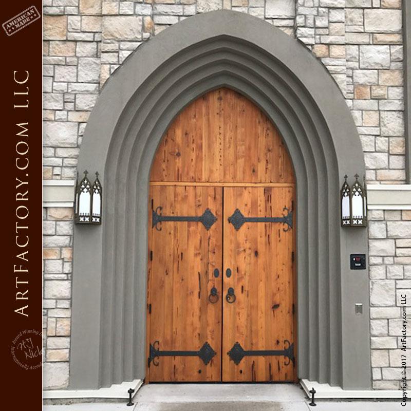 Wood Door With Strap Hinges Wood Door With Strap Hinges