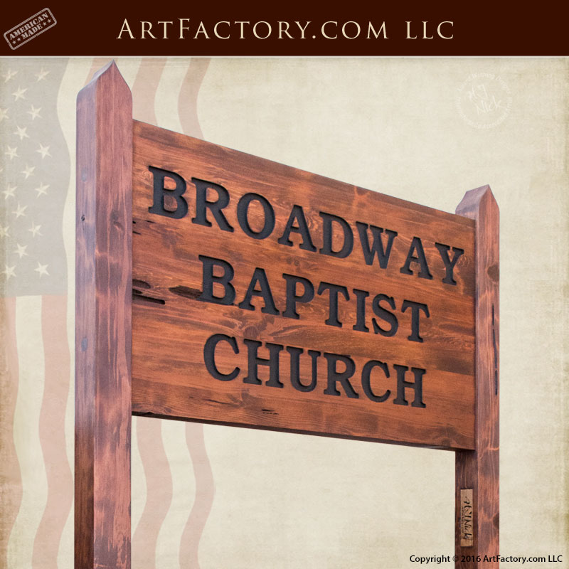 Custom Outdoor Wood Signs Exterior Church Signage