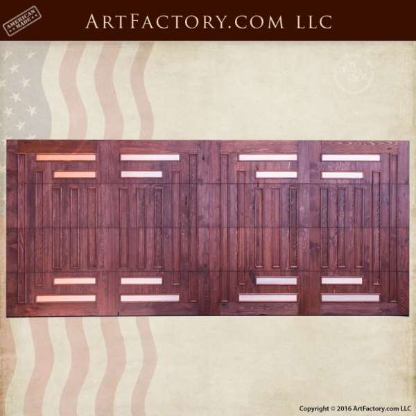 Craftsman style garage door greene greene design solid for Craftsman style garage lights