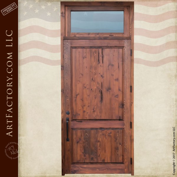 Custom Entry Doors - Exterior Doors with Transom -Scottsdale Art ...