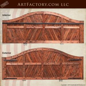 sliding wood driveway gate