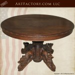 Custom 19th Cen Hand Carved French Hunting Table