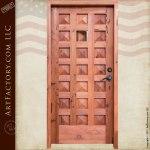 pyramid panel door with speakeasy