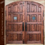 arched double doors