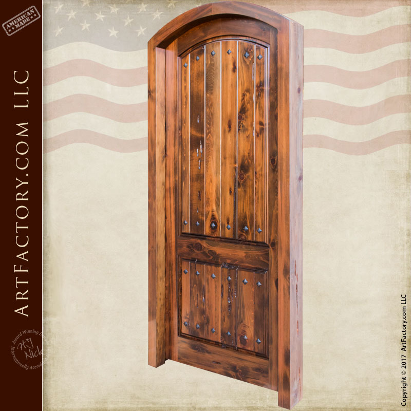 Custom eyebrow arched solid wood interior door for Custom interior wood doors