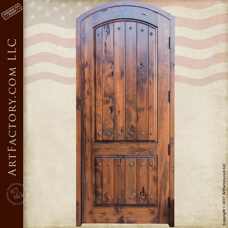 Custom Eyebrow Arched Solid Wood Interior Door