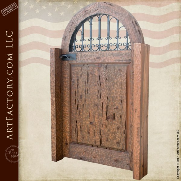custom solid wood gate
