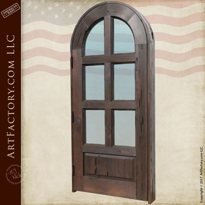 Custom interior door with full arch and glass - Arched interior doors with glass ...